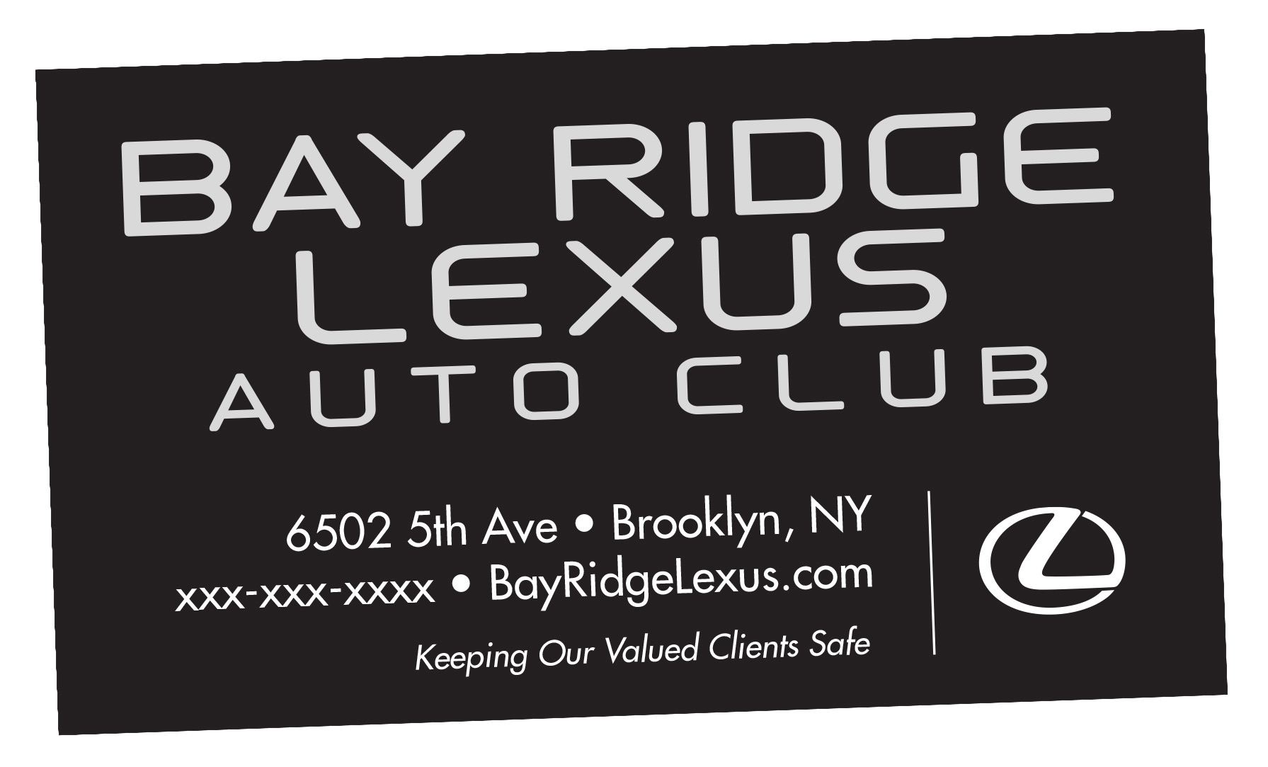 Lexus of Brooklyn Auto Club Card